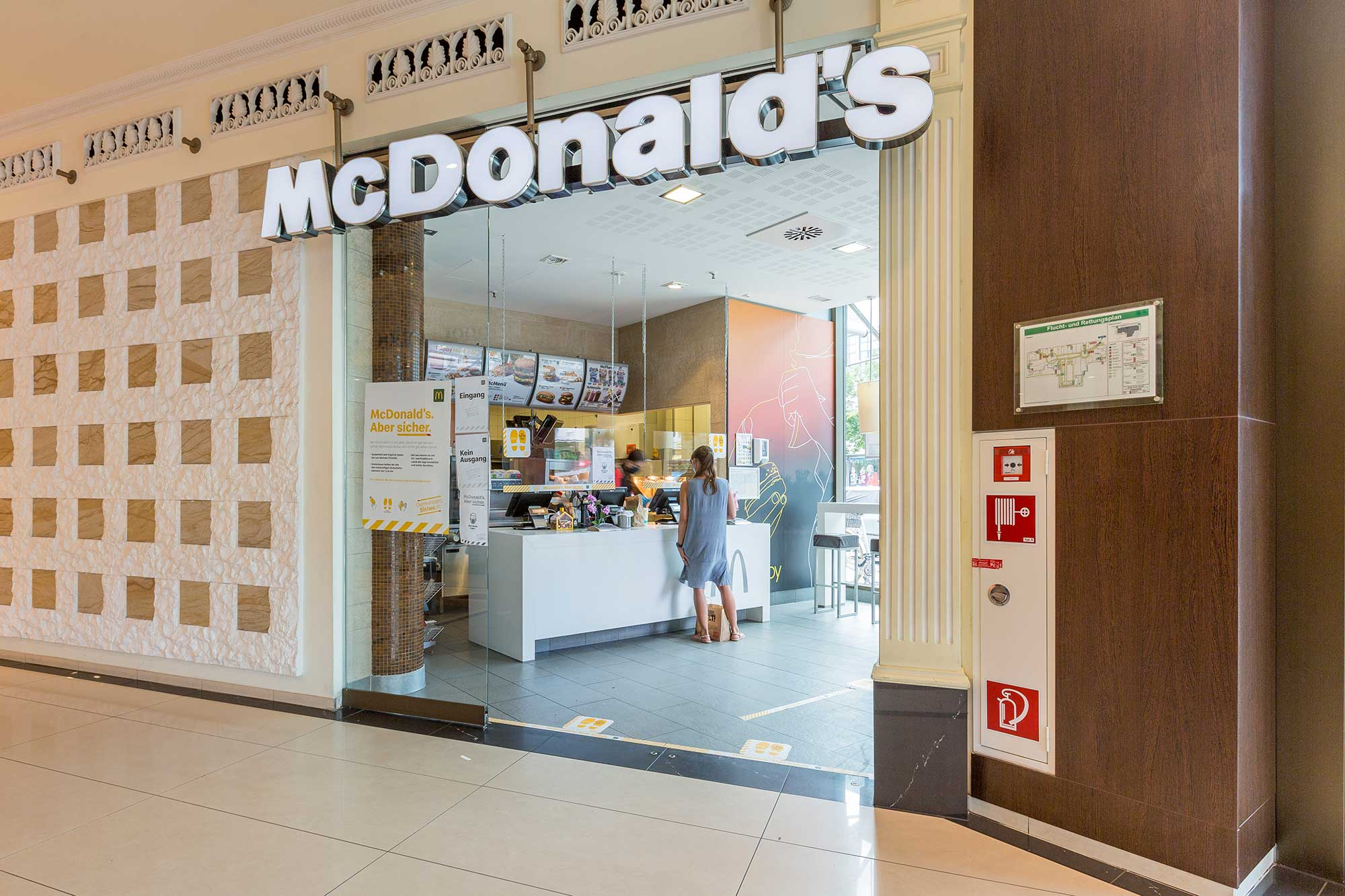 McDonalds in the Sankt Annen Galerie Brandenburg
